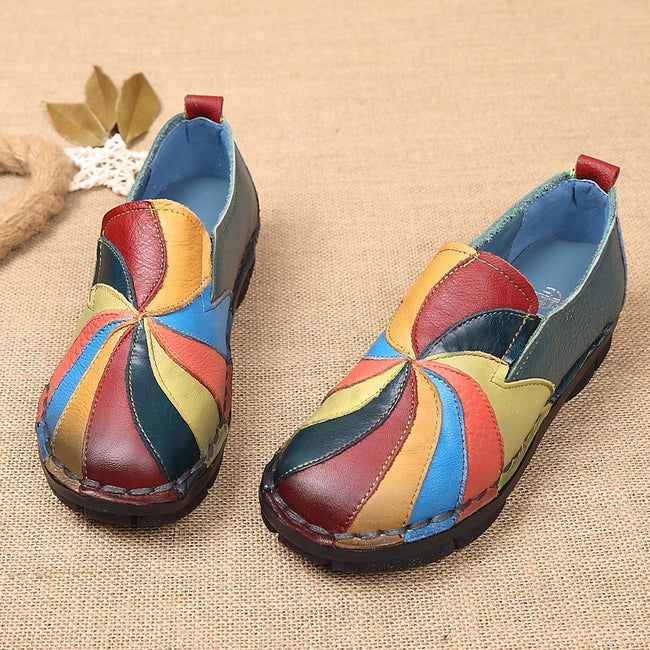 Color Stitching Loafers - coolbuyshopstore