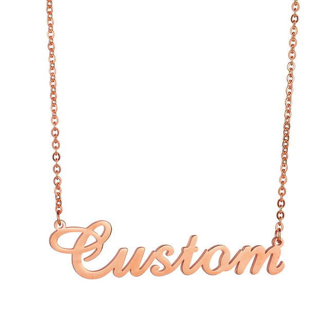 Nameplate Necklace Gold Name Necklace Personalized Jewelry Cursive Necklace Name Pendant Necklace DIY Necklace Girlfriend Gifts - coolbuyshopstore