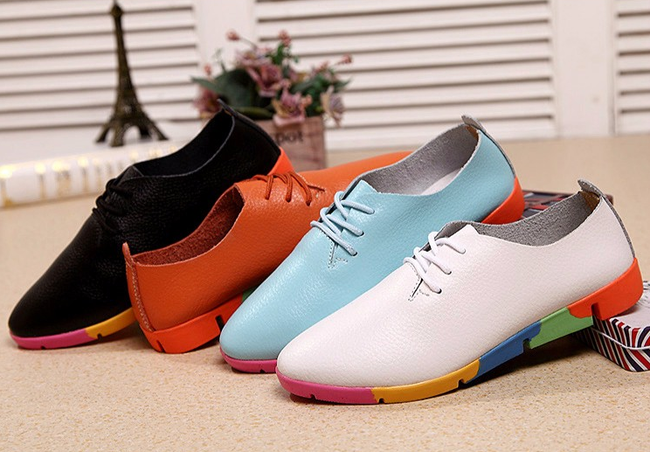 Pointed Toe Lace-up Moccasins Ladies Casual Shoes-shoes-coolbuyshopstore