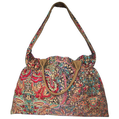 Flower Printing Canvas Women Big Size Handbag
