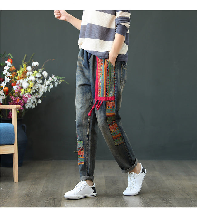 Vintage Embroidered Loose Jeans - coolbuyshopstore