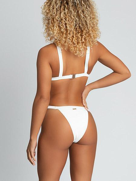 Esme Ribbed Triangle Bikini Bikini Sets White