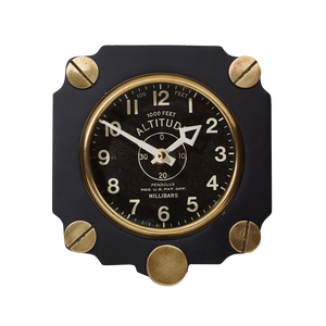 Altimeter Wall Clock Black - Pendulux