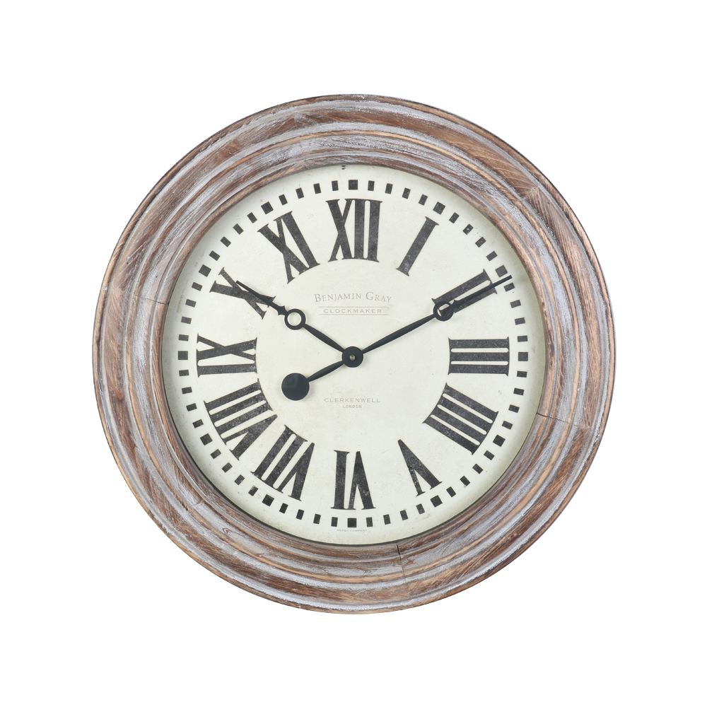 Benjamin Clock Grey Wood