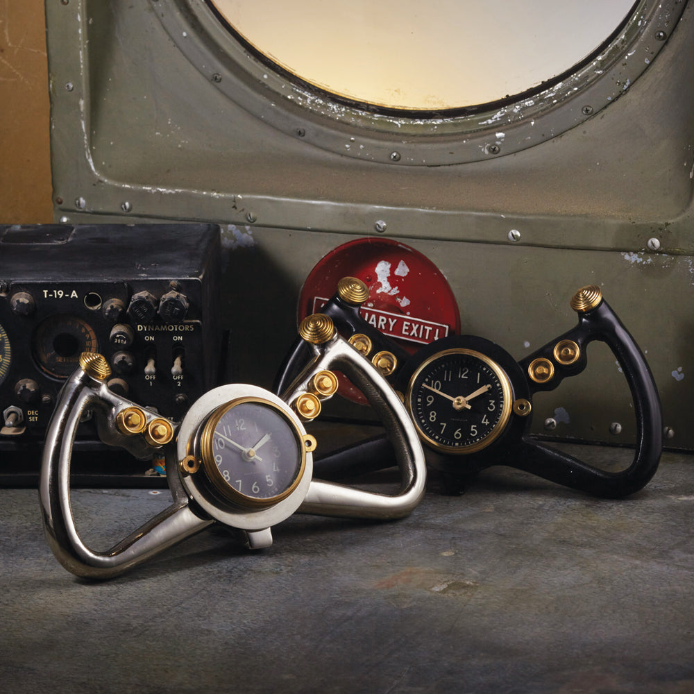 Cockpit Table Clock Black