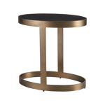 Ellipse Accent Table Antique Gold
