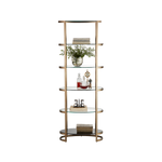 Ellipse Etagere Antique Gold