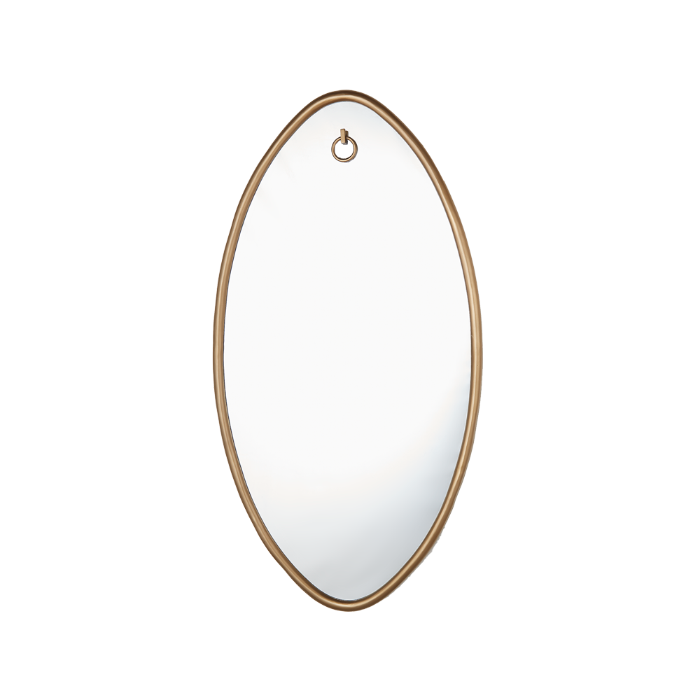 Ellipse Mirror Oval Antique Brass