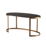 Ellipse Writing Desk Antique Gold