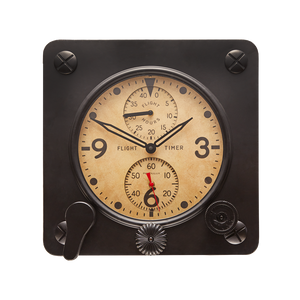 Flight Timer Wall Clock Black - Pendulux