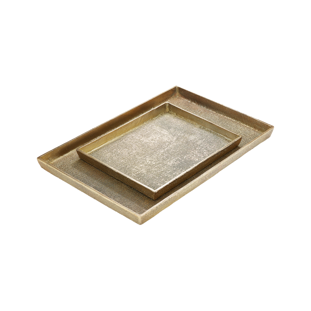 Hemp Tray Large Antique Brass