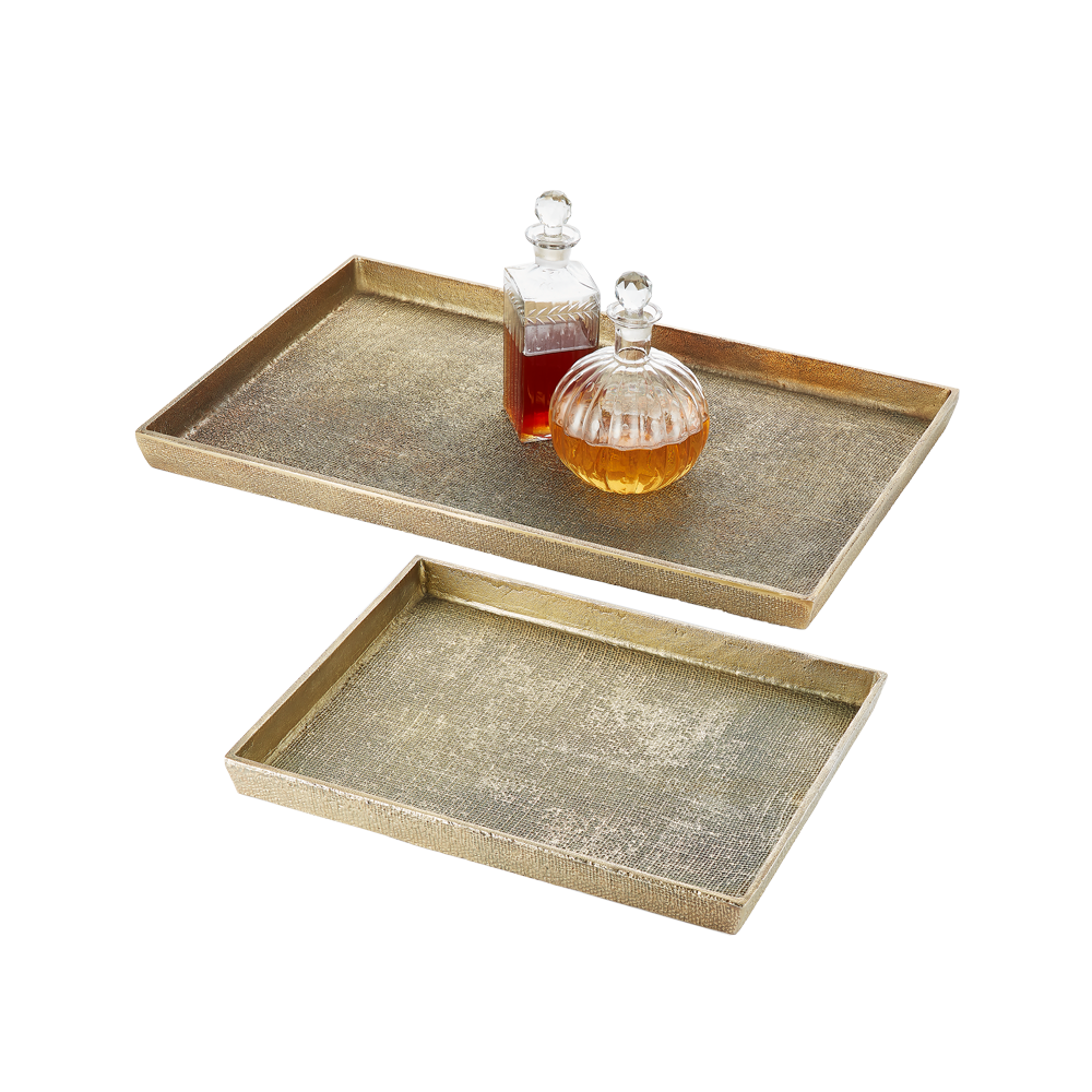 Hemp Tray Small Antique Brass