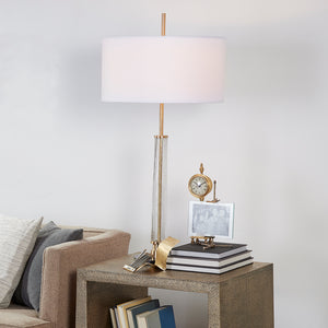 Hudson Table Lamp Antique Brass