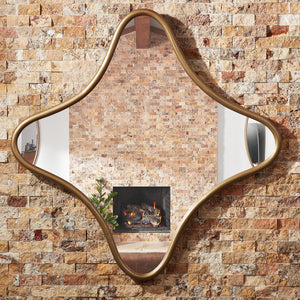 Milano Square Mirror Antique Brass