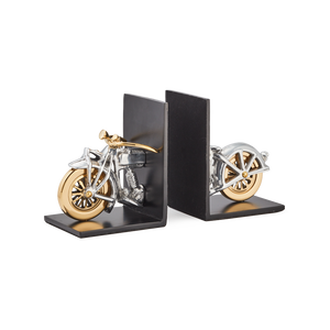 Motorcycle Bookends Aluminum - Pendulux