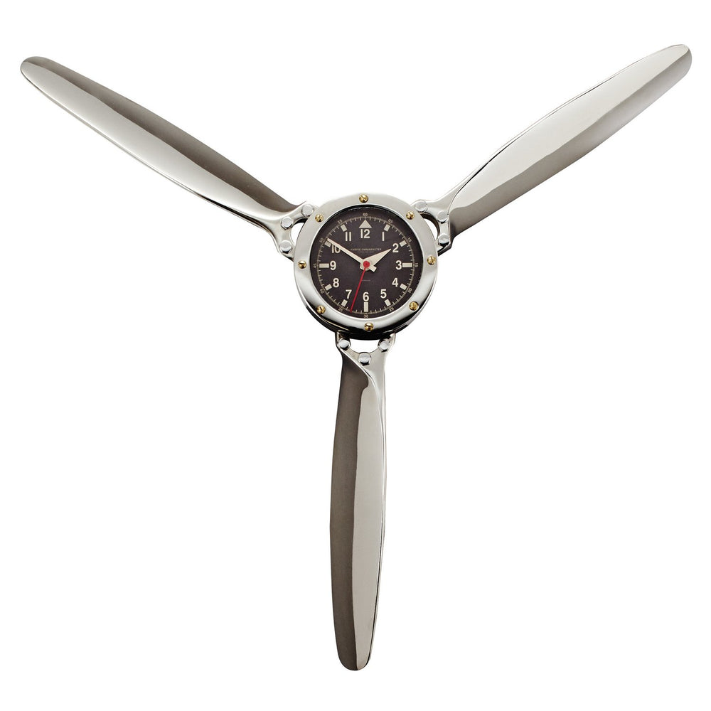 Propeller Wall Clock Aluminum