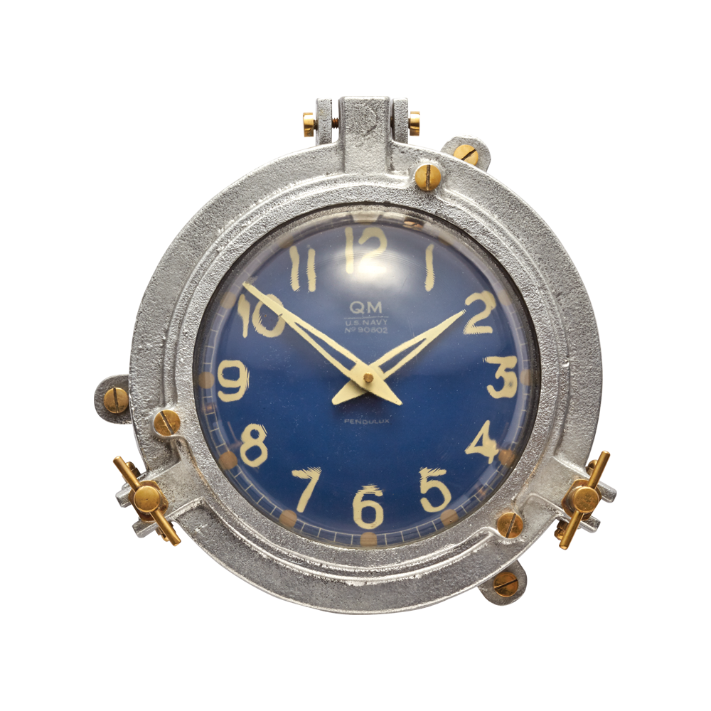 Quartermaster Wall Clock Blue