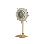 Skipper Table Clock Aluminum