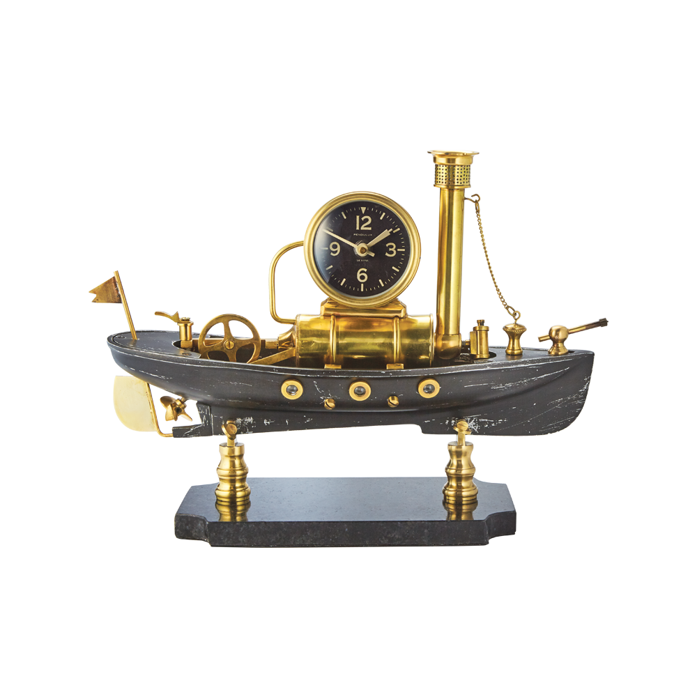 Steamboat Table Clock