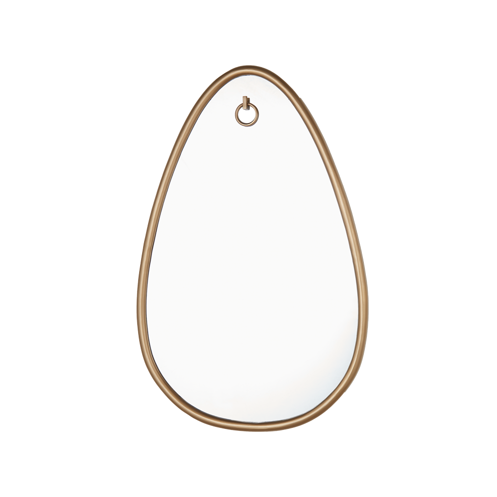 Tear Drop Mirror Antique Brass