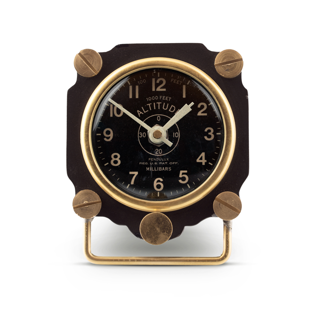 Altimeter Table Clock Black
