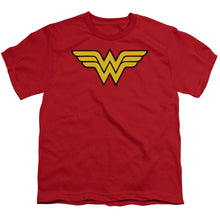 Load image into Gallery viewer, Wonder Woman Logo Short Sleeve Youth 18/1
