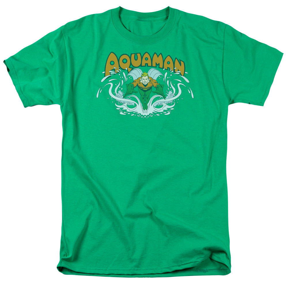 Dc - Aquaman Splash Short Sleeve Adult 18/1