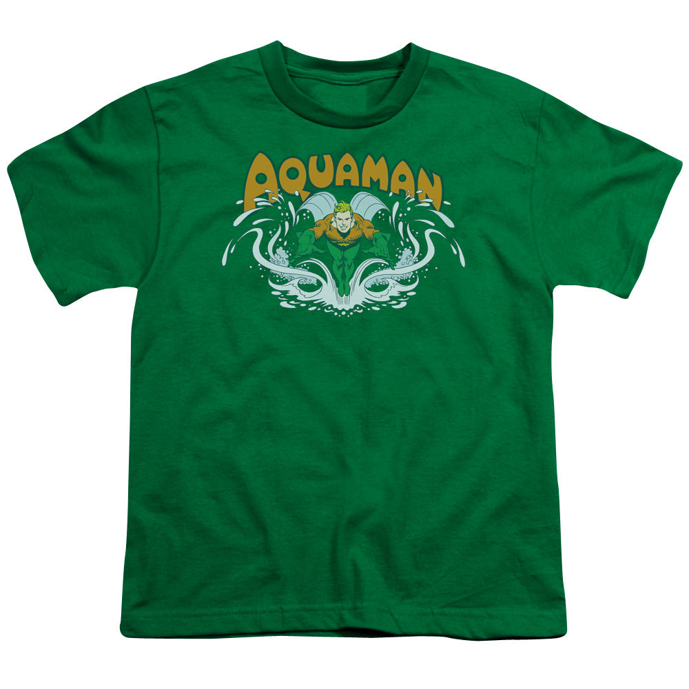 Dc - Aquaman Splash Short Sleeve Youth 18/1