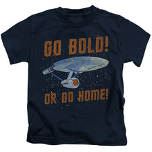 Load image into Gallery viewer, Star Trek - Go Bold Short Sleeve Juvenile 18/1