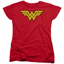 Load image into Gallery viewer, Wonder Woman Logo Short Sleeve Women's Tee
