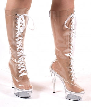 Plateau Knee Boots High Heels
