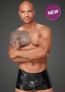 Powerwetlook Herrenshorts mit dekorativen PVC