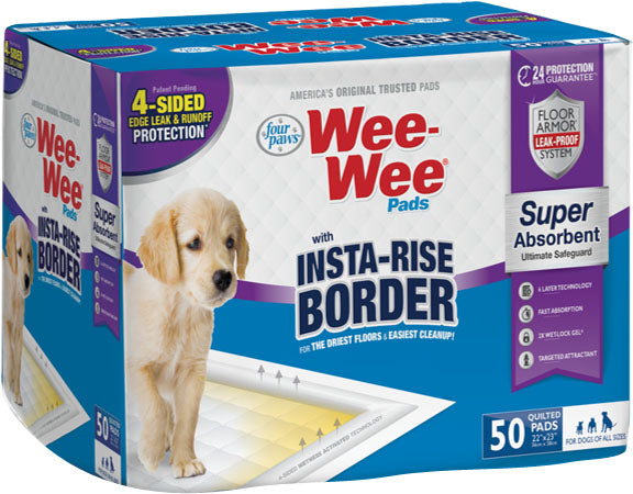 Four Paws - Container - Wee-wee Insta-rise Border Pad