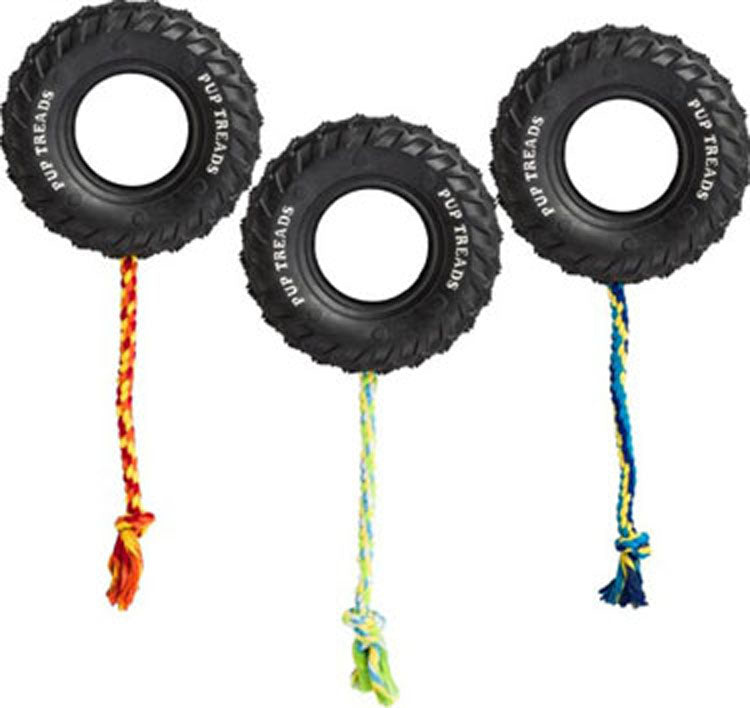 Ethical Dog - Pup Treads Rubber Tire W/rope