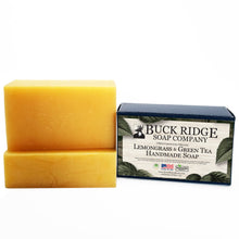 Load image into Gallery viewer, Lemongrass and Green Tea Handmade Soap - USDA Certified Organic