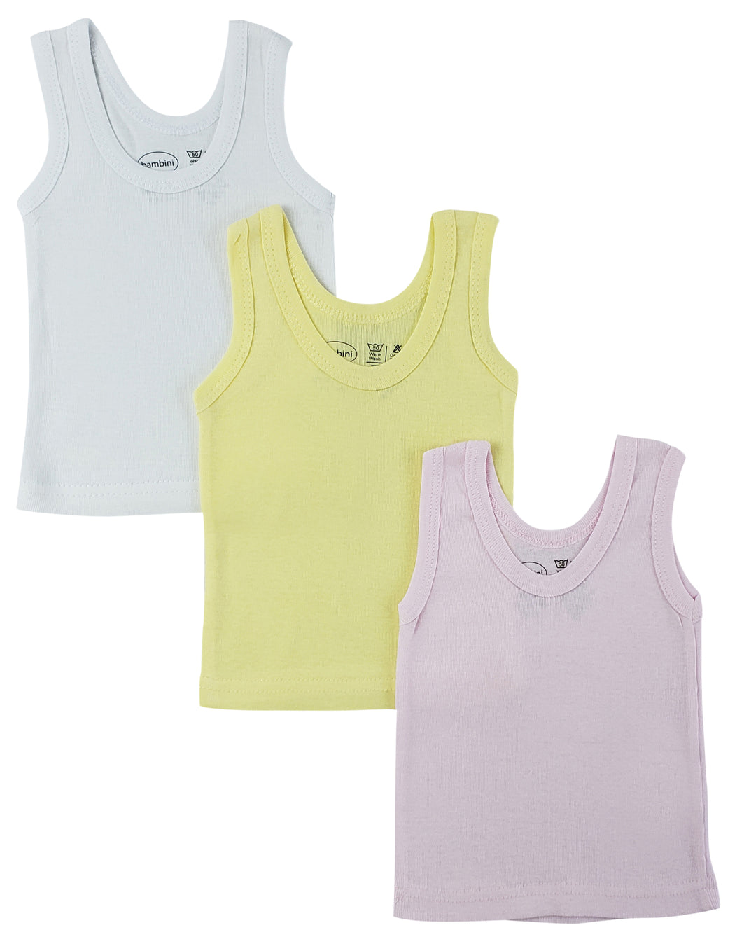 Girls Pastel Tank Top 3 Pack