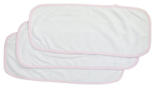 Load image into Gallery viewer, Baby Burpcloth With Pink Trim (pack Of 3)