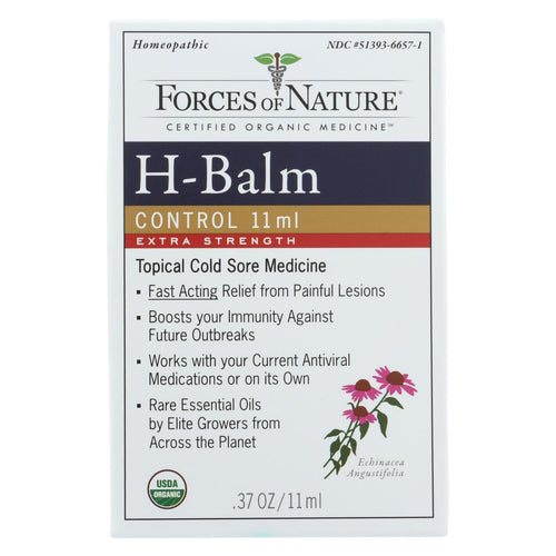 Forces Of Nature - Organic H-balm Daily Control - Extra Strength - 11 Ml