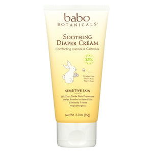 Babo Botanicals - Diaper Cream - Soothing - 3 Oz