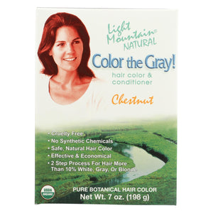 Light Mountain Hair Color - Color The Gray! Chestnut - Case Of 1 - 7 Oz.