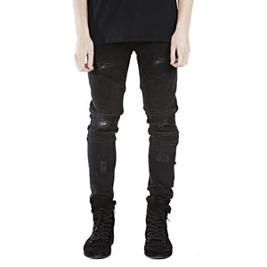 Men's Hiphop Skinny Biker Jeans