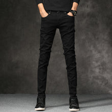 Load image into Gallery viewer, Men's Classic Black Skinny Jeans