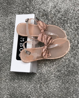 Crystal Bow Sandals