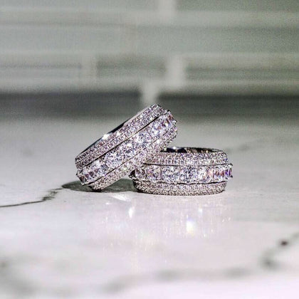 5 Row Diamond Infinity Band Ring