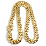14mm Curb Cuban Chain