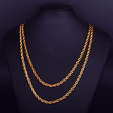 Gold Rope Chain Necklace ( 3mm / 6mm )