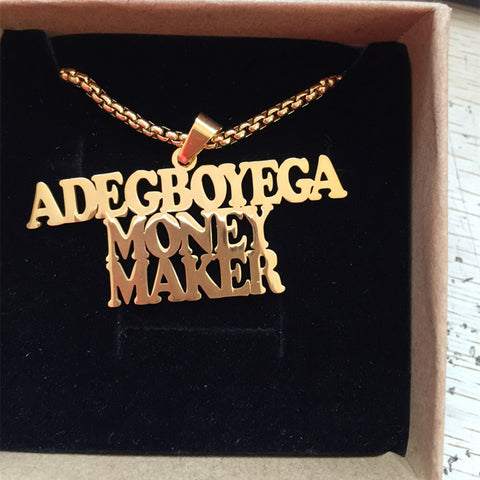 Custom Box Chain Name Necklace