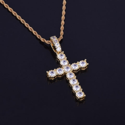 Diamond Cross Pendant Necklace
