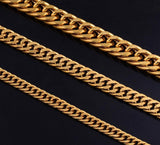 Cuban Curb Link Necklace 5mm/6mm/9mm