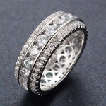 3 Row Diamond Infinity Band Ring
